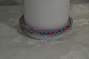 Hand Made Pink Teal Blue Rubber Banded Bracelets on Sale