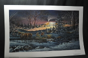 Terry Redlin A Helping Hand Horse Woods Art Print Sale