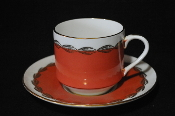 Vintage Aynsley England Orange China Tea Orange Cup Saucer Set sale
