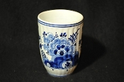 Delft Holland Cup Numbered 222 White and Blue is for sale