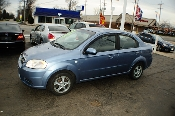 2007 Chevrolet Aveo LS 4Dr blue sedan sale used car by Auto Mix Car Sales Waukegan Illinois