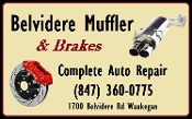 Belvidere Muffler Brakes Auto Repair Shop Waukegan Pass Emissions Test Steering Suspension Shocks Struts Service Center