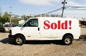 2006 Chevrolet Express 2500 White Used Work Van sale Mount Prospect Illinois