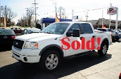 2008 Ford F150 4Dr White Pickup Truck for sale by Auto Mix Car Sales Waukegan Illinois