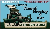 Hamiltons Green Thumb Mowing Professional Lawn Maintenance