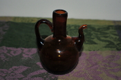 Miniature Collectable Amber Tea Glass Pitcher Sale