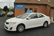 2014 Toyota Camry LE White Used Sedan Sale NAC North American Credit auto sales Waukegan Illinois