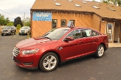2015 Ford Taurus SEL Red AWD Used Sedan sale NAC North American Credit auto sales Waukegan Illinois