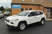 2014 Jeep Cherokee White 4x4 Sport Used SUV Sale NAC North American Credit auto sales Waukegan Illinois