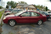 2002 Ford Taurus SES Red Sedan Used Car Sale by Dodd's Auto Sale Beach Park Illinois