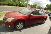2004 Nissan Maxima SL Red Sedan Sale by Dodd's Auto Sale Beach Park Illinois