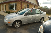2007 Ford Focus SES Silver Sedan Sale Used Car Sale by Dodd's Auto Sale Beach Park Illinois