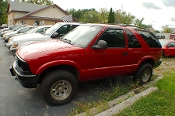 1996 Chevrolet Blazer LS 2Dr Red 4x4 SUV Sale by Dodd's Auto Sale Beach Park Illinois