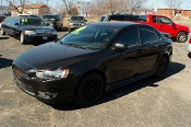 2012 Mitsubishi Lancer Black Sedan Used Car Sale at Motor City Auto Sales of Waukegan
