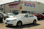 2010 Acura TL Navigation White Sedan Sale at Motor City Auto Sales in Waukegan