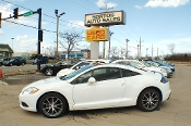 2012 Mitsubishi Eclipse White Coupe Used Car Sale by Sortos used cars Waukegan auto trucker dealer
