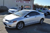 2007 Honda Civic Silver SI Manual Coupe Used Car Sale at Motor City Auto Sales