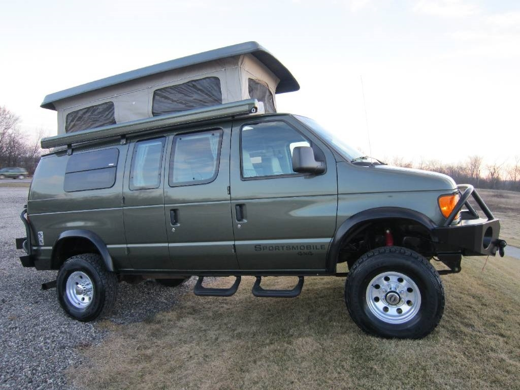 2004 Ford Sportsmobile Rb50 Pewter 4x4 Poptop Rv Sale