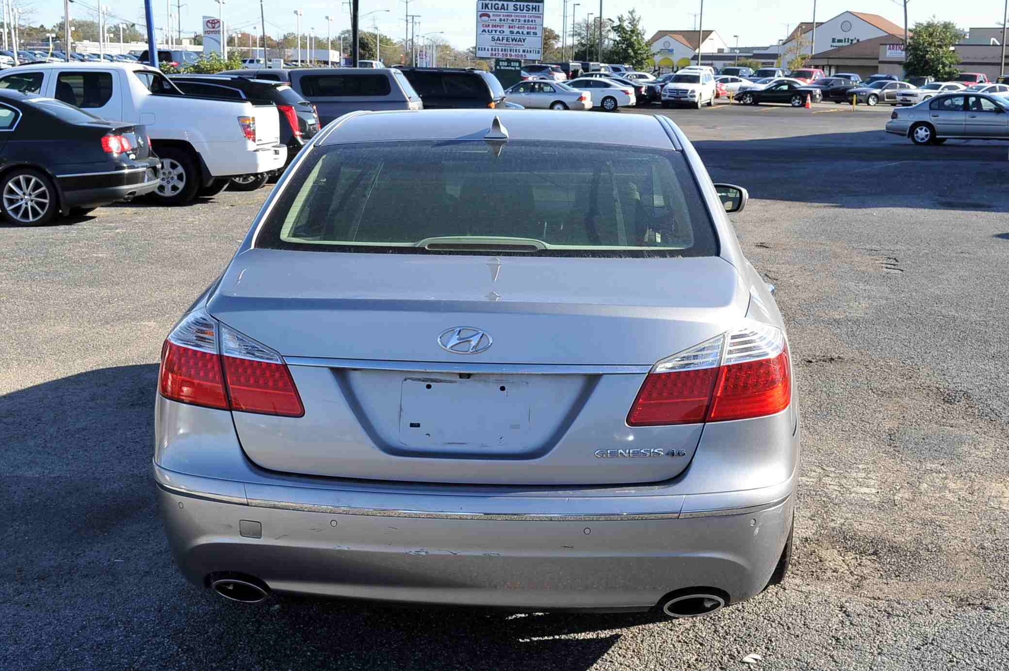 2009 Hyundai Genesis Silver Sedan Used Car Sale Fox River Grove Grayslake Volo Waucanda