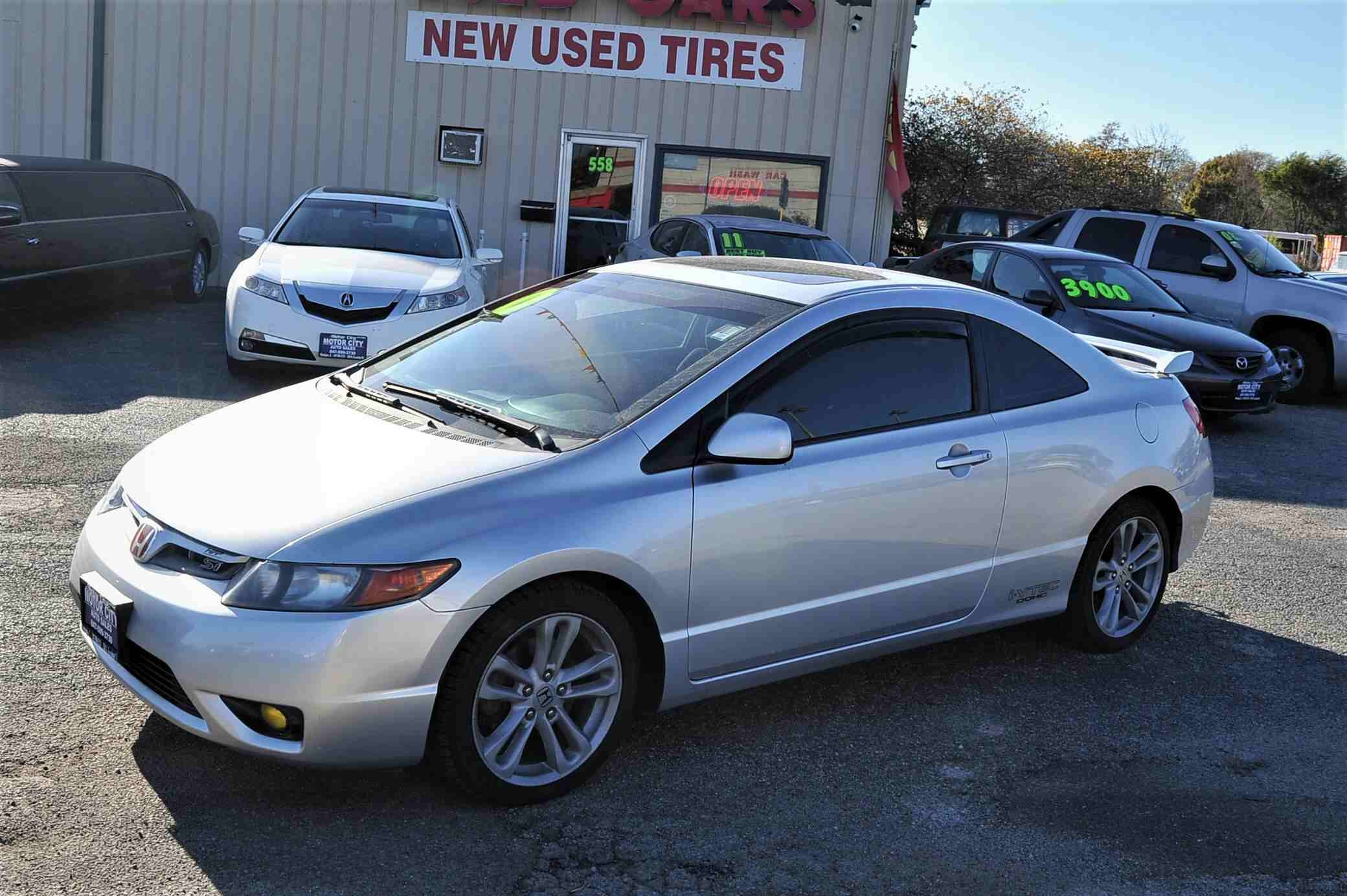 2007 Honda Civic Silver SI Manual Coupe Used Car Sale Antioch Zion Waukegan Lake County Illinois