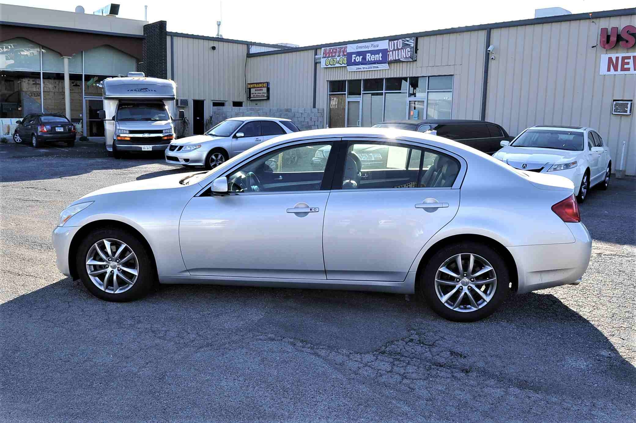2008 Infiniti G35X Silver Navigation Sedan Used Car Sale Gurnee Kenosha Mchenry Chicago Illinois