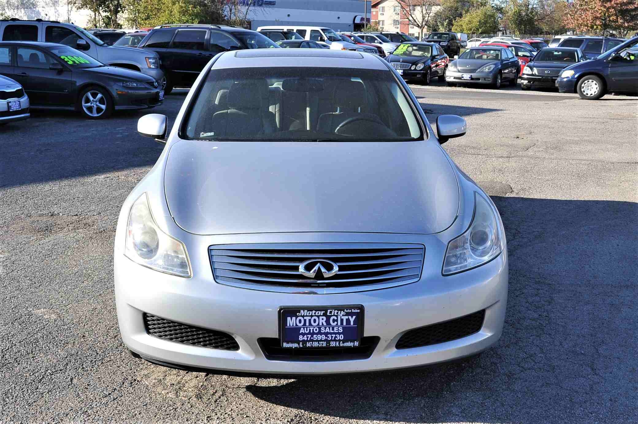 2008 Infiniti G35X Silver Navigation Sedan Used Car Sale Antioch Zion Waukegan Lake County Illinois
