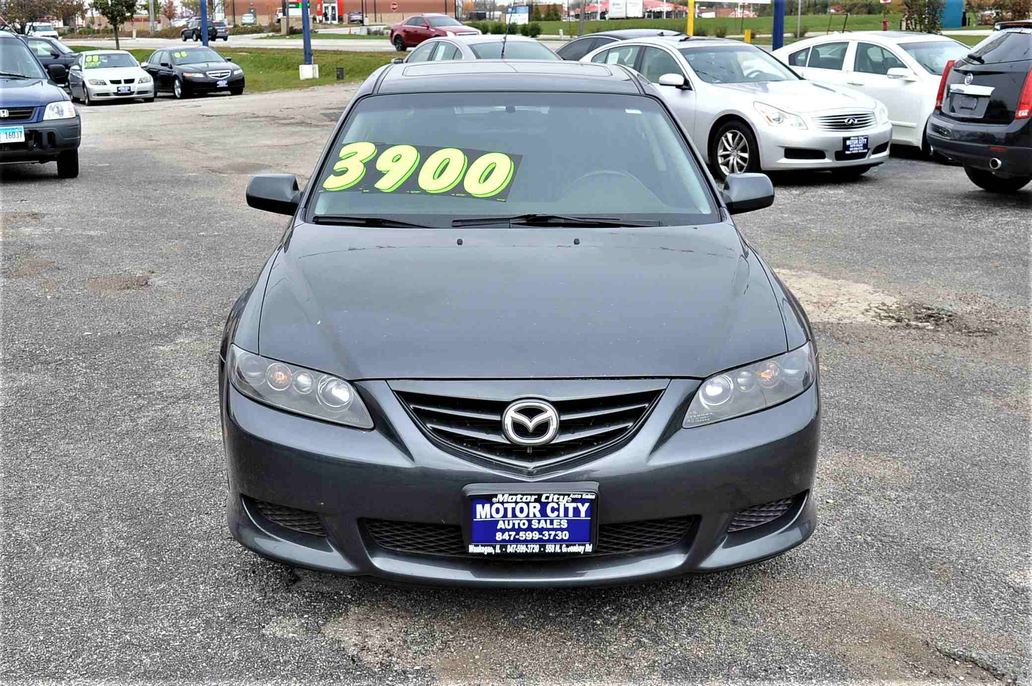 2004 Mazda 6 Gray Sedan Sale Used Car Sale Gurnee Kenosha Mchenry Chicago Illinois
