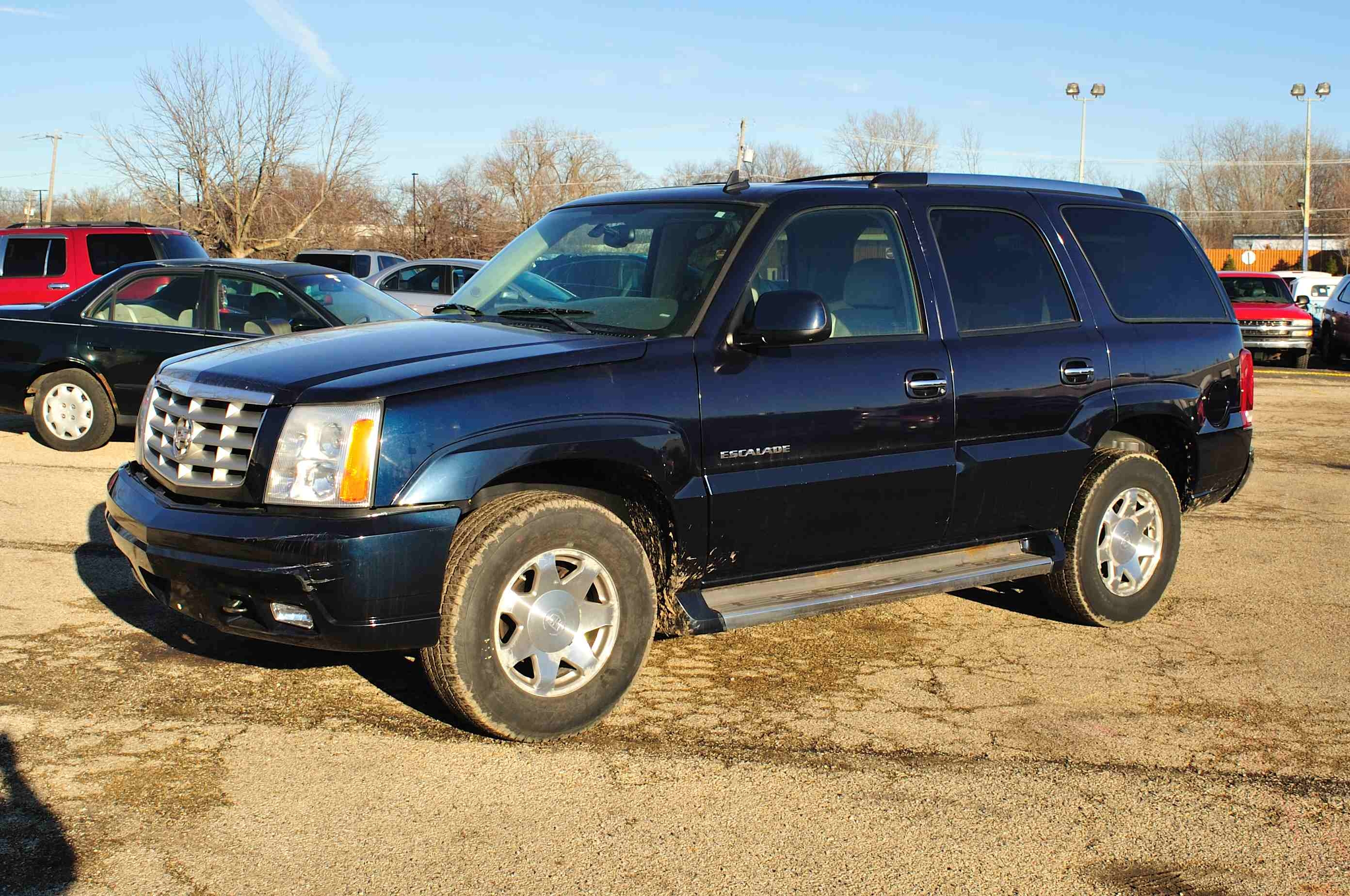 2005 Cadillac Escalade Blue Used SUV Sale Antioch Zion Waukegan Lake County Illinois