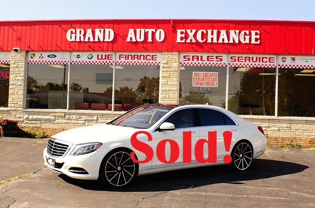 2014 Mercedes Benz S550 4Matic AWD Turbo White Sedan used car Sale Antioch Zion Waukegan Lake County Illinois
