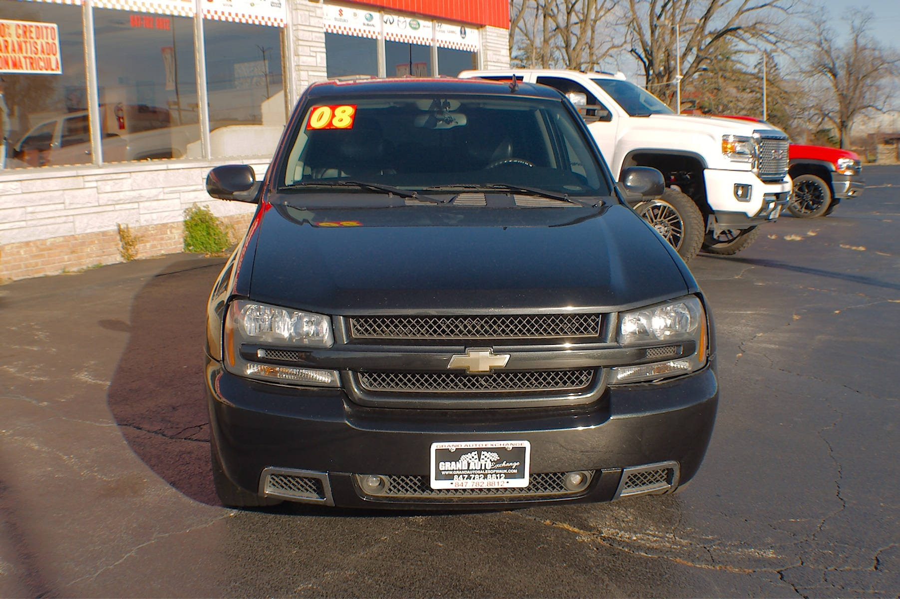 2008 Chevrolet Trailblazer SS Black Used SUV Sale Gurnee Kenosha Mchenry Chicago Illinois