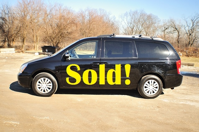 2011 Kia Sedona Black Family Mini Van Sale Antioch Zion Waukegan Lake County Illinois