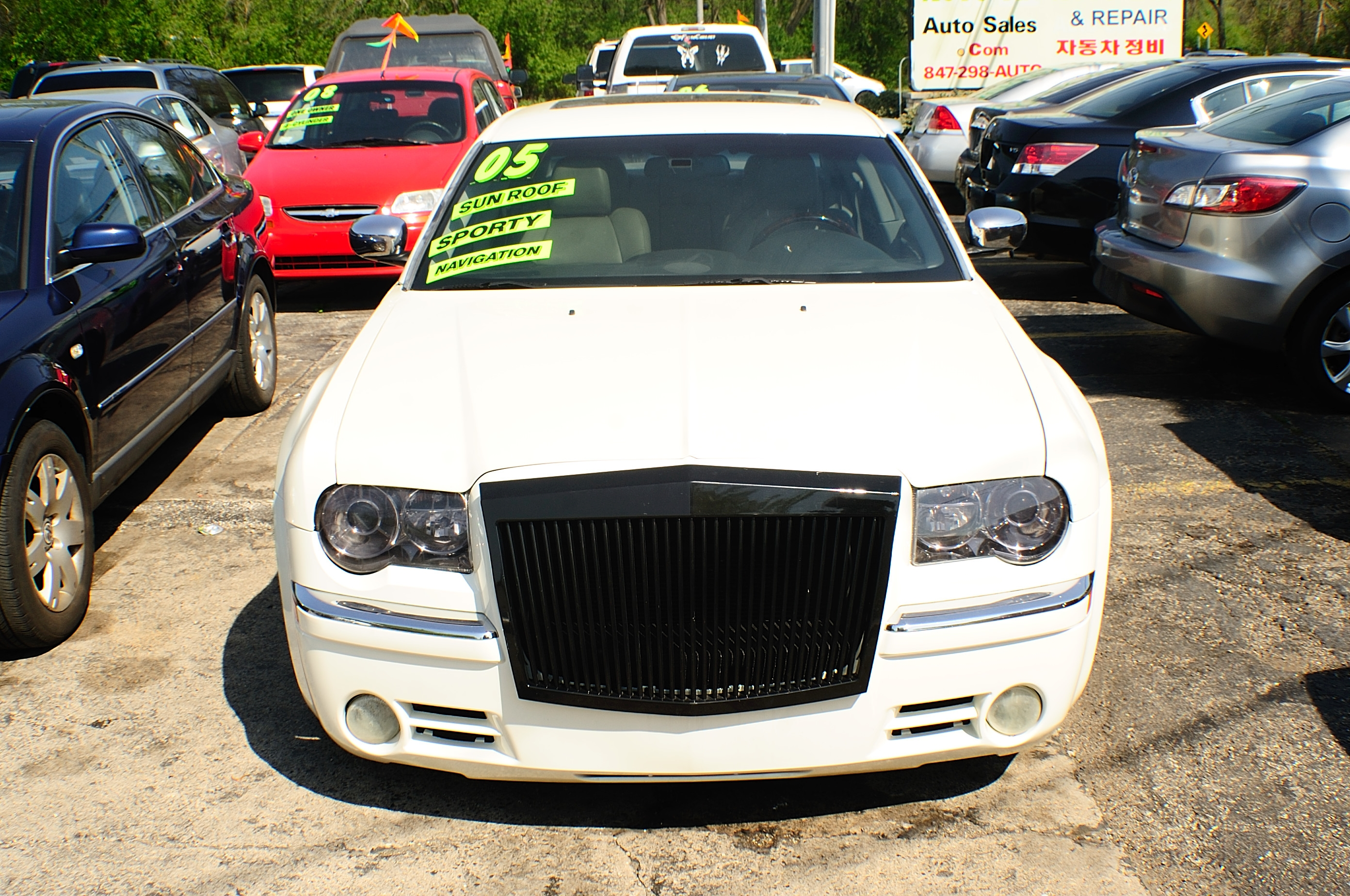 2005 Chrysler 300 White Navigation Used Sedan car sale Buffalo Grove Carol Stream Carpentersville Cicero