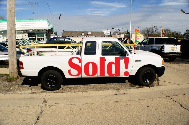 2008 Ford Ranger Ext White Pickup Truck sale Antioch Zion Waukegan Lake County Illinois