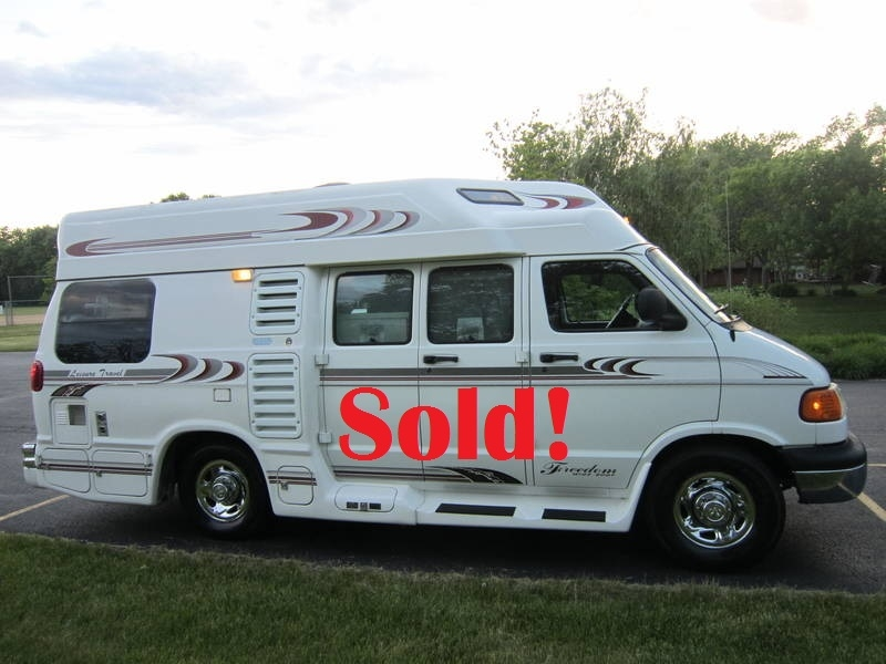 1998 Leisure Travel Freedom Wide Body Dodge Used RV Sale Antioch Zion Waukegan Lake County Illinois