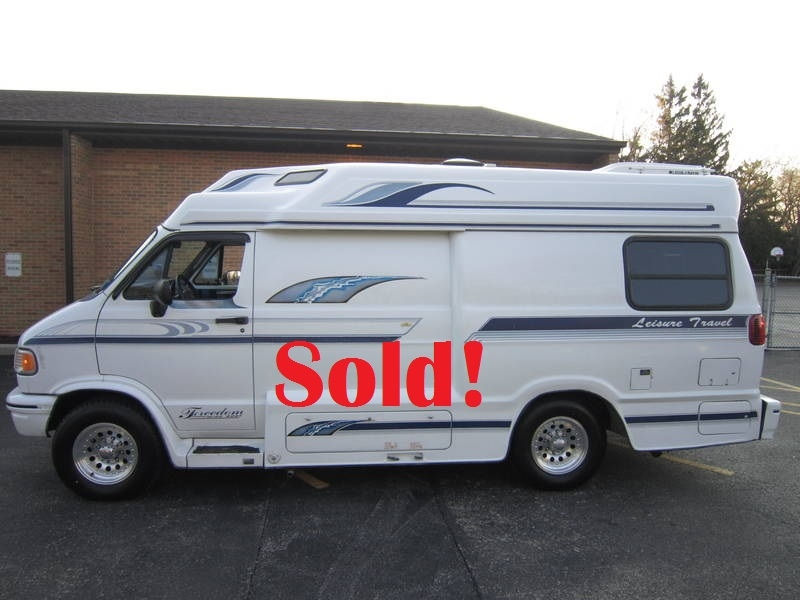 1996 Leisure Travel Freedom ll Wide Body Dodge used RV Sale Antioch Zion Waukegan Lake County Illinois