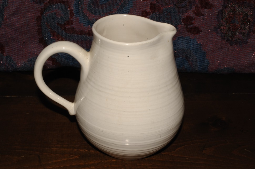 Antique Franciscan Earthenware White Pottery Water Juice Pitcher sale
