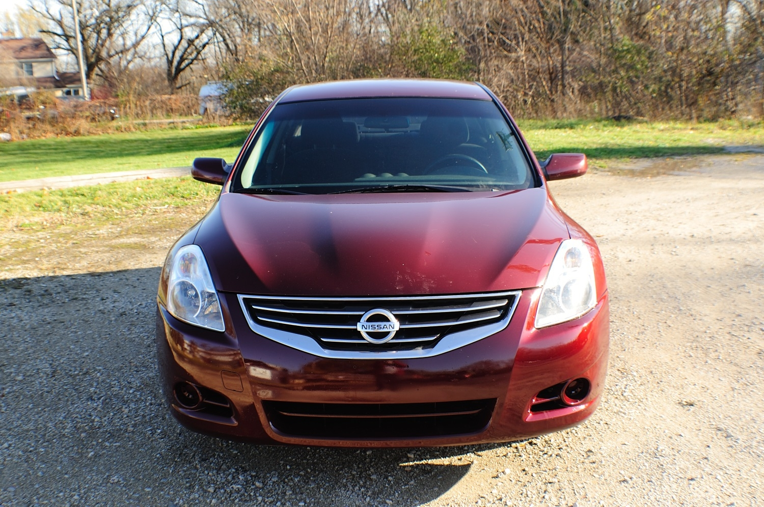 2010 Nissan Altima S Red Used Car Sedan Sale Gurnee Kenosha Mchenry Chicago Illinois