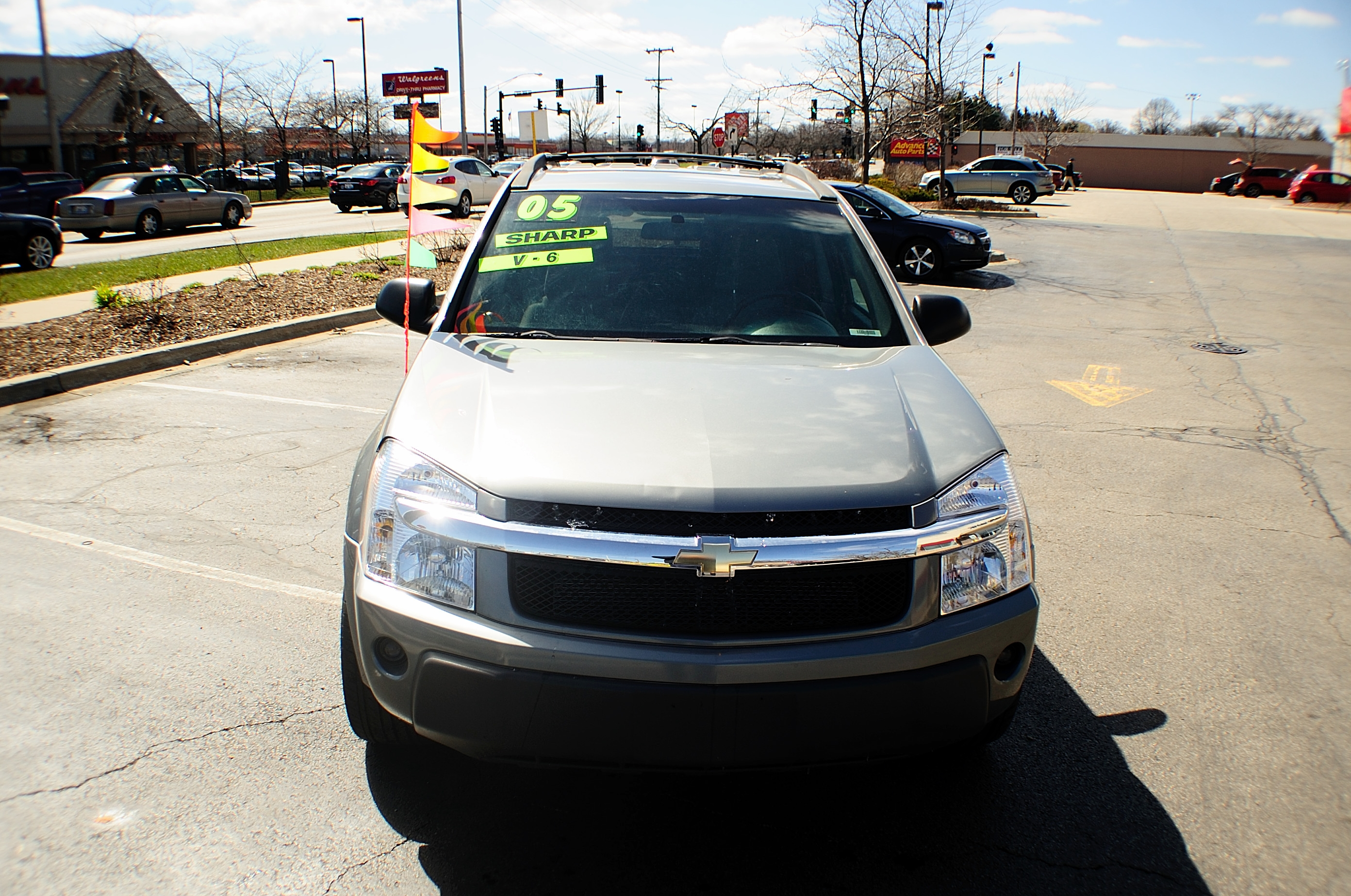 2005 chevrolet equinox ls 4dr silver suv used