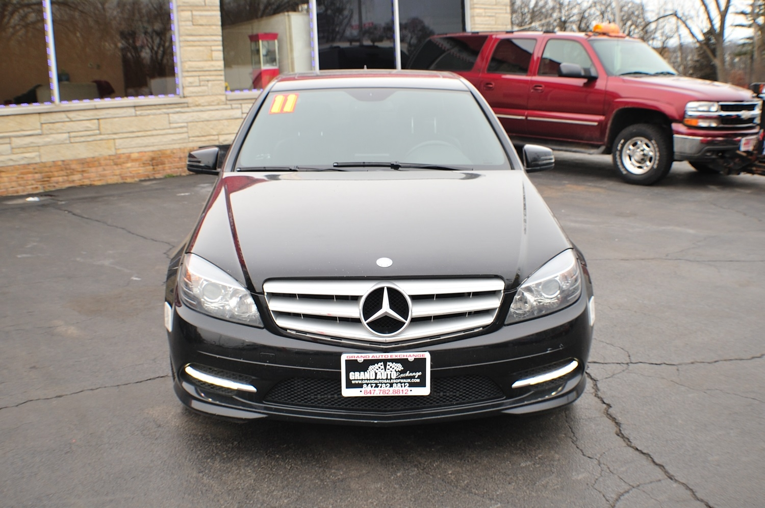 2011 mercedes benz c300 4matic black sport sedan
