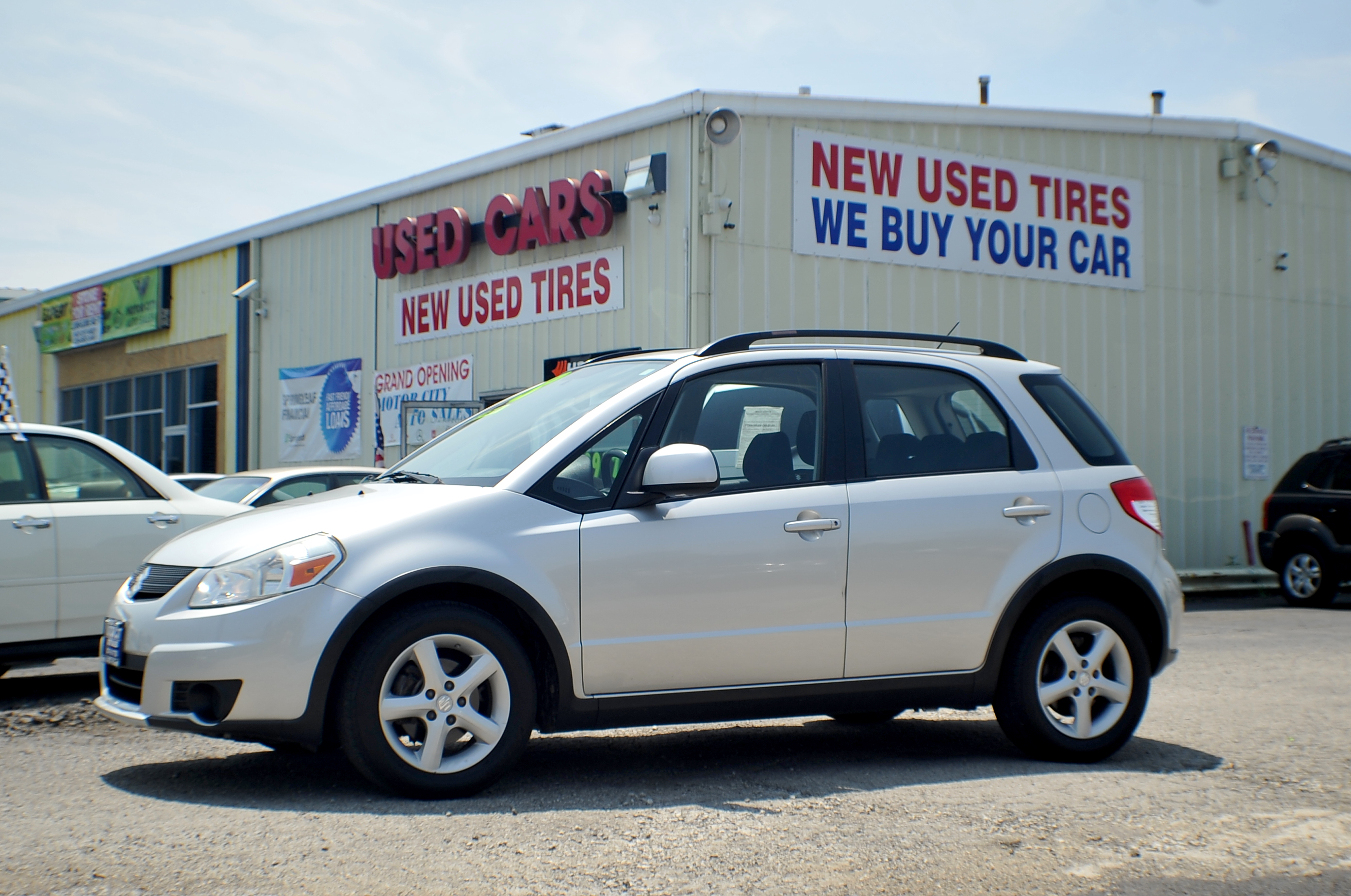 2008 Suzuki SX4 AWD Silver Sport Hatchback Used Car Sale Antioch Grayslake