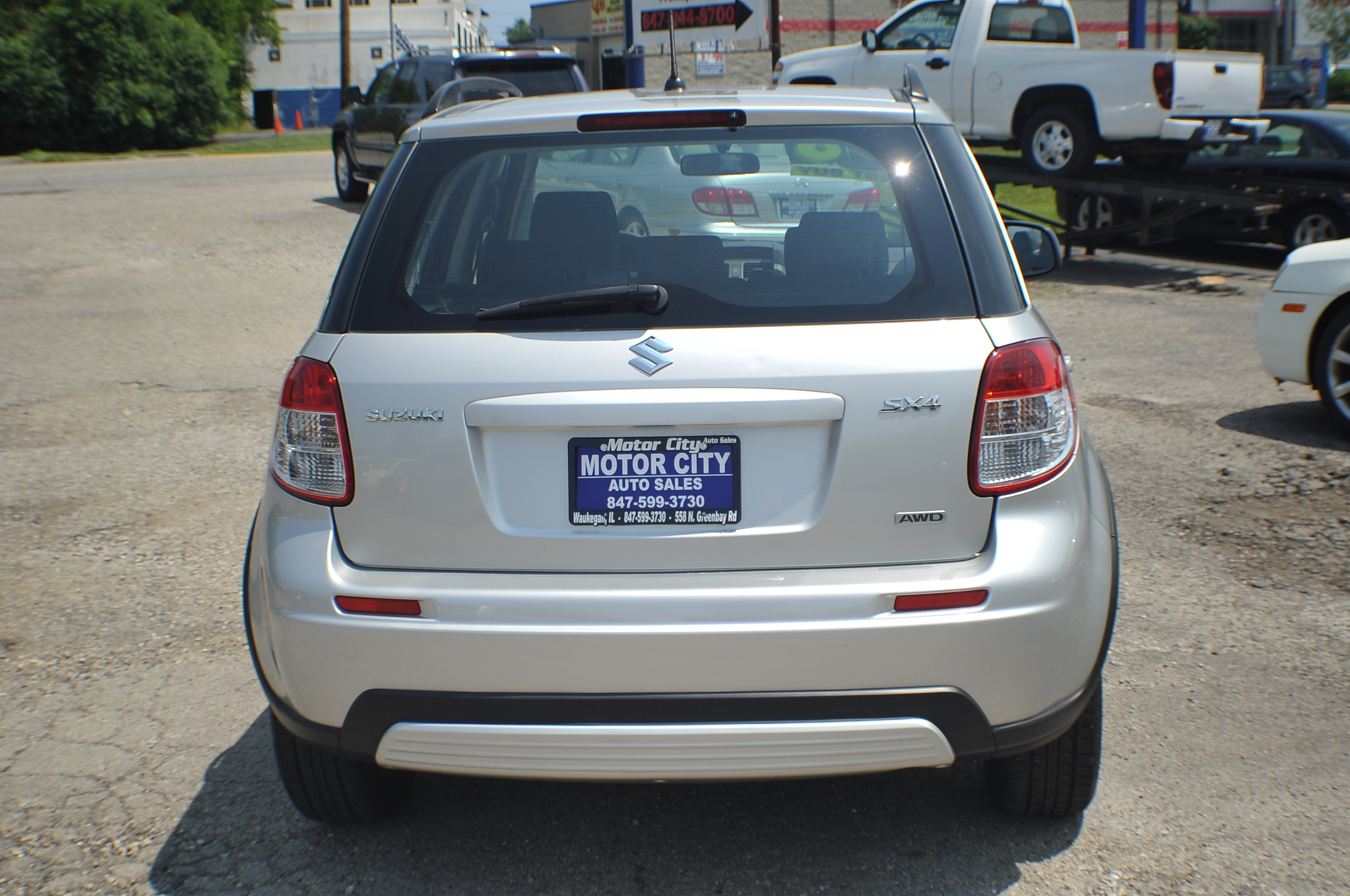 2008 Suzuki SX4 AWD Silver Sport Hatchback Used Car Sale Waukegan Kenosha