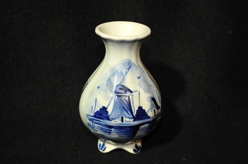 Delft Holland Vase Numbered 294 Antique sale