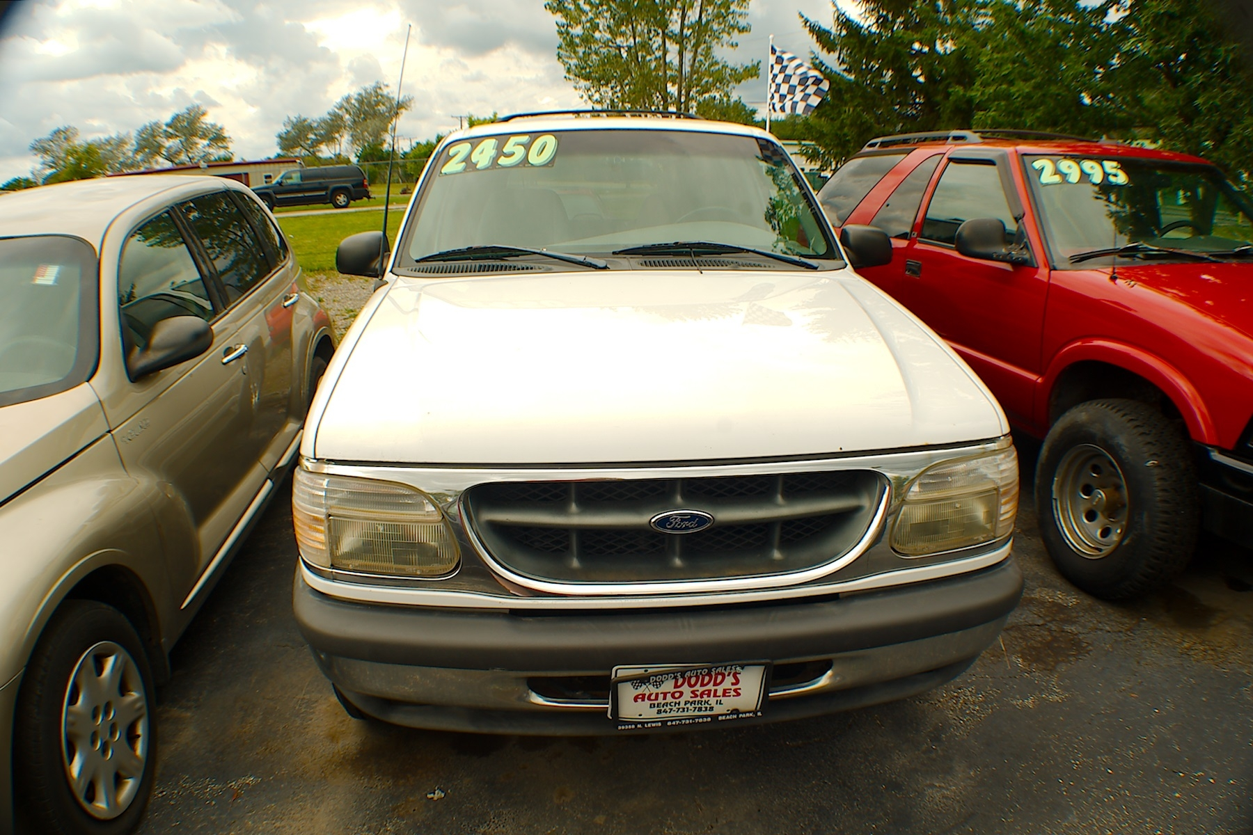 1998 Ford Explorer XLT White SUV Used Car Sale Gurnee Kenosha Mchenry Chicago Illinois
