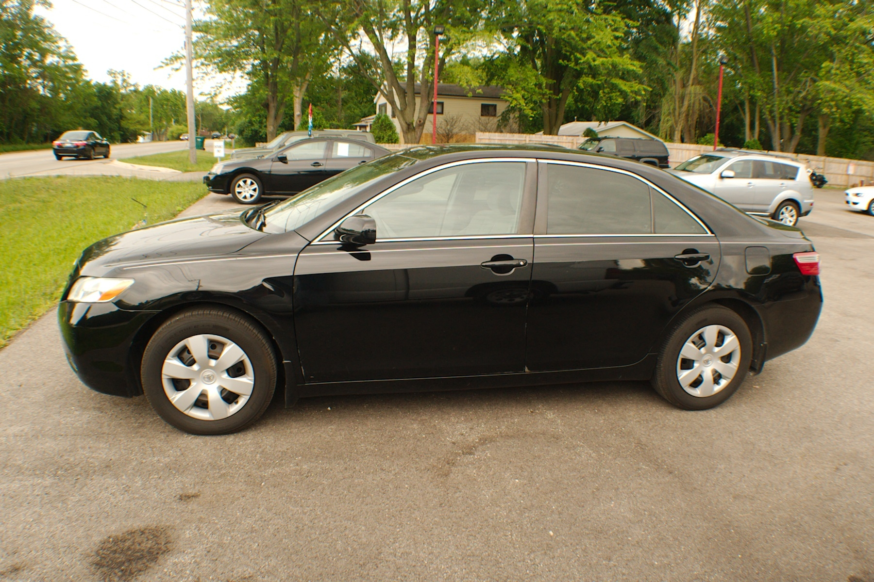2007 Toyota Camry Black LE 4 Door Used Sedan sale Antioch Zion Waukegan Lake County Illinois