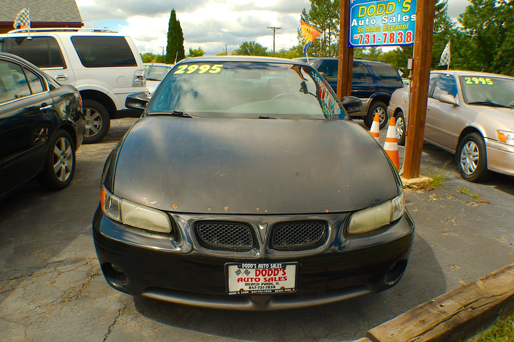 2001 Pontiac Grand Prix Black Sedan Sale Gurnee Kenosha Mchenry Chicago Illinois