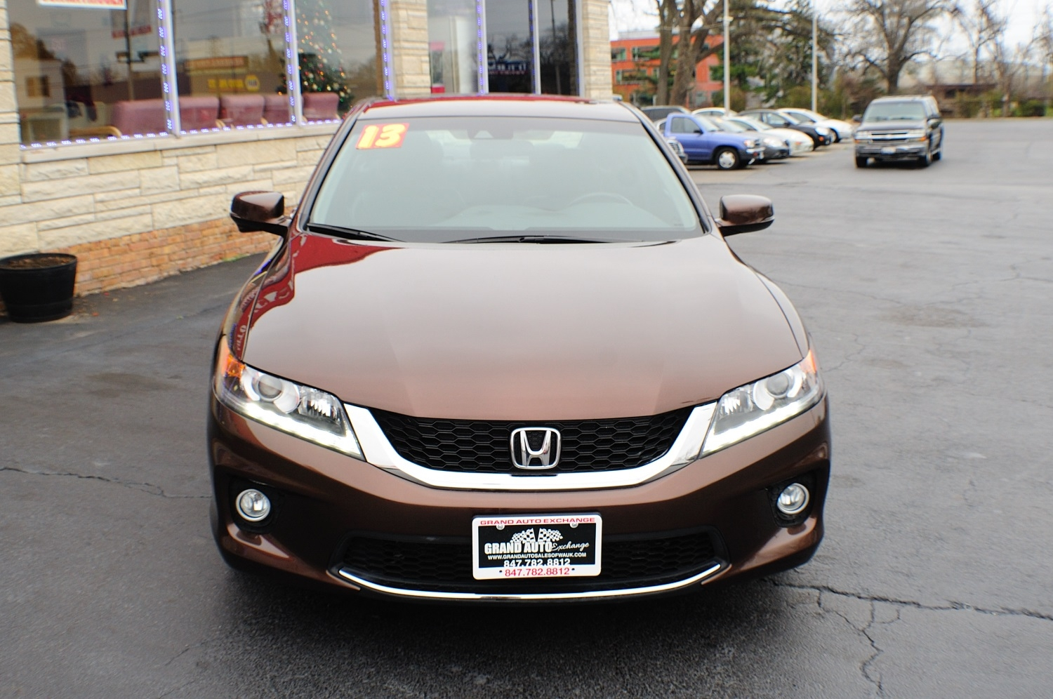 2013 honda accord brown coupe used car sale