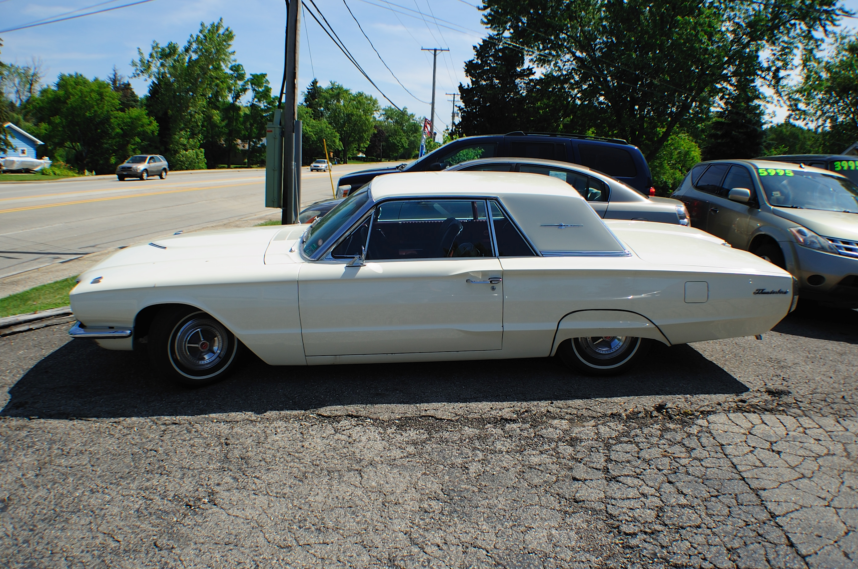 1966 Ford Thunderbird White Classic Sport Coupe Car Sale
