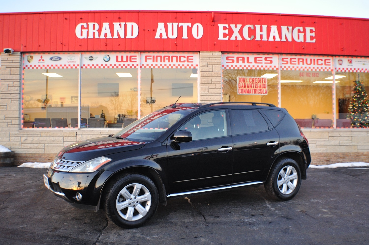 2006 Nissan Murano SL Black AWD used SUV Sale Antioch Zion Waukegan Lake County Illinois