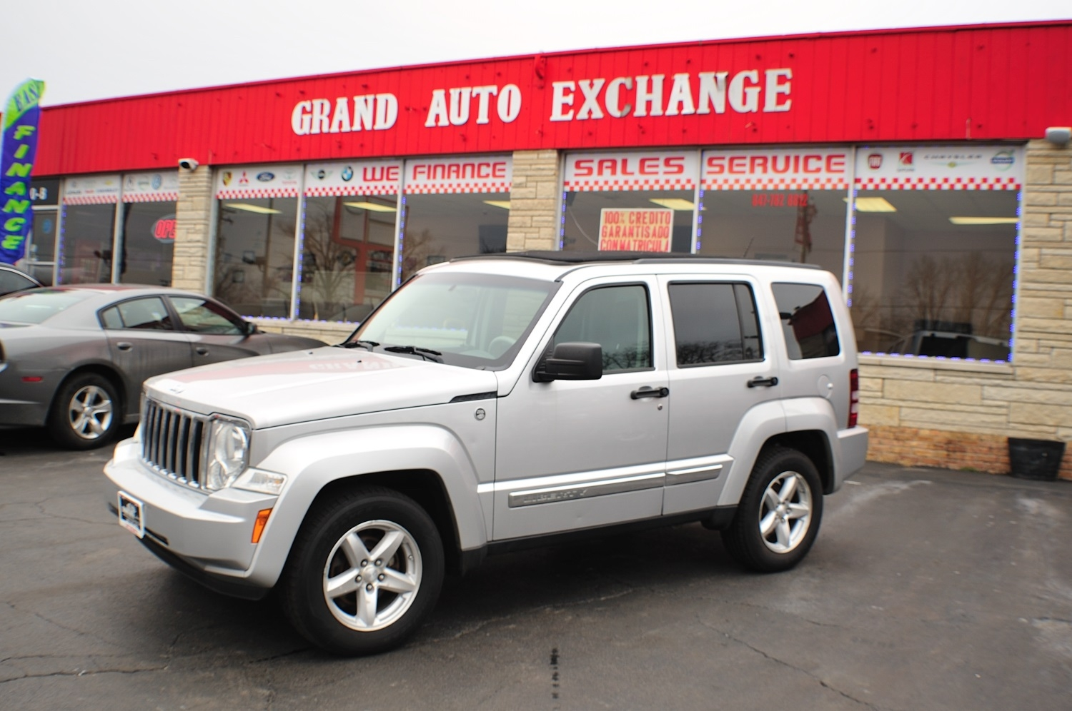 2008 Jeep Liberty Silver 4x4 Used car SUV Sale Antioch Zion Waukegan Lake County Illinois