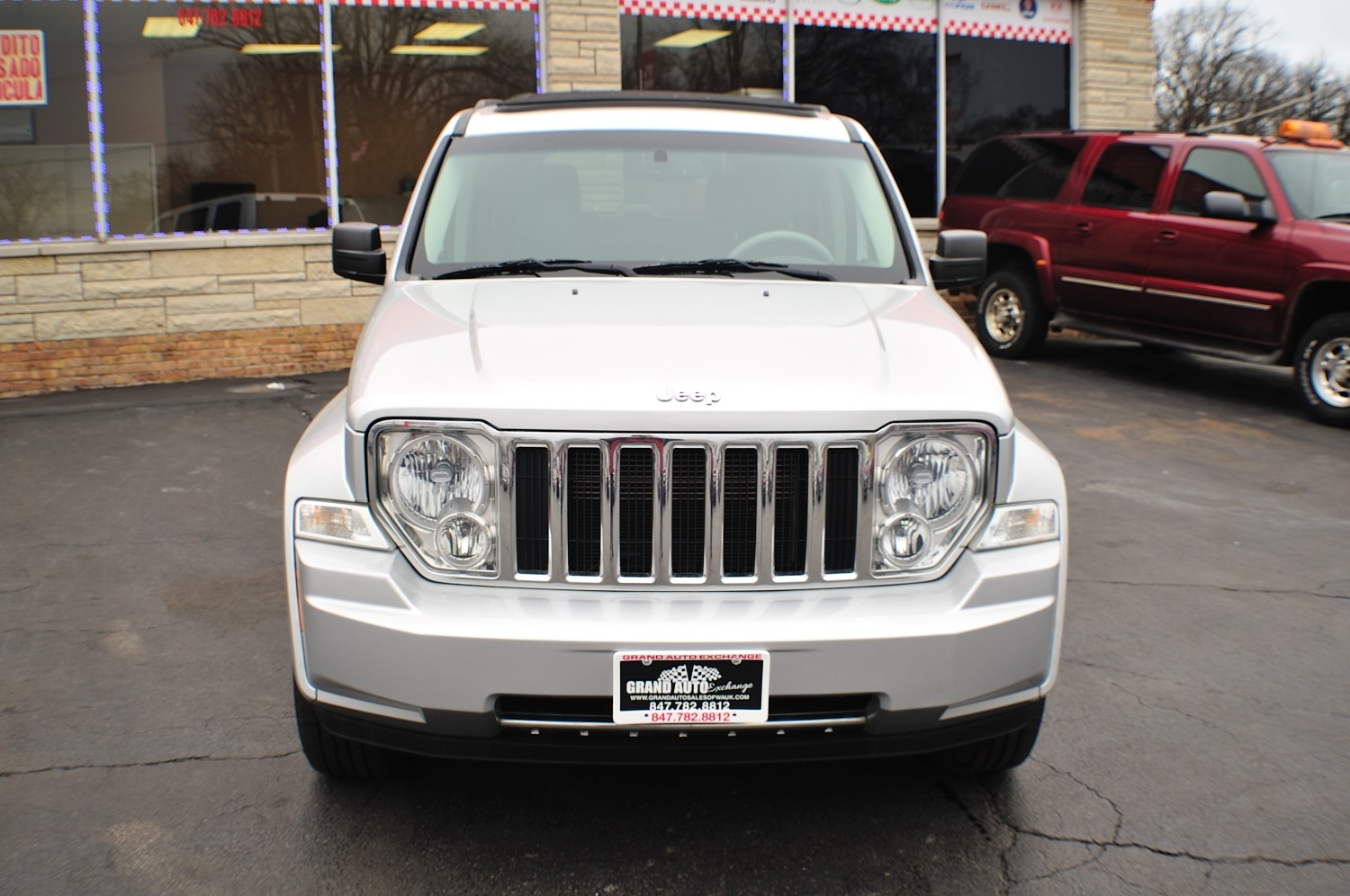 2008 Jeep Liberty Silver 4x4 Used car SUV Sale Gurnee Kenosha Mchenry Chicago Illinois